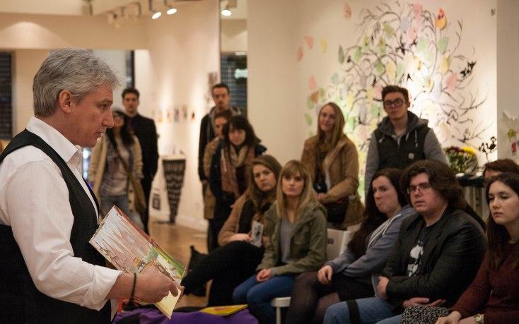 Andrew Whitson speaking at I am Illustrator