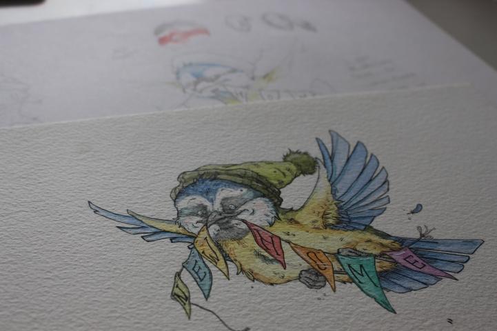 """""""Flown the Nest"""" Sketchwork"""
