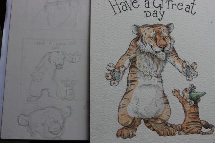 """Greeeat Day"" Sketchwork"