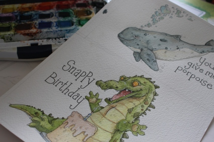 """Snappy Birthday"" and"" You give me Porpoise"" Originals"