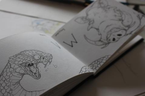 Viper and Warthog Sketchbook